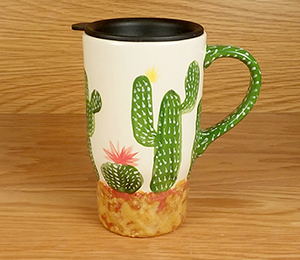 Bee Cave Cactus Travel Mug