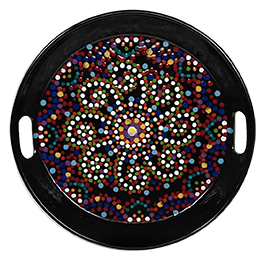 Bee Cave Mosaic Mandala Tray