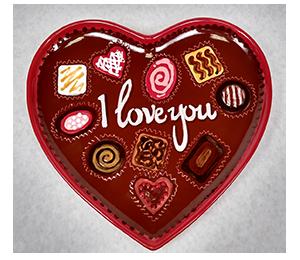 Bee Cave Valentine's Chocolate