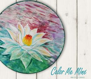 Bee Cave Lotus Flower Plate